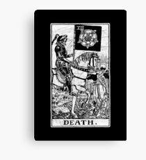 Death Tarot Card - Major Arcana - fortune telling - occult Canvas Print