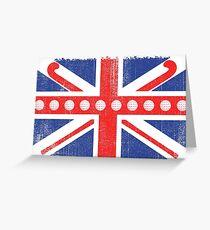 Vintage Flag > UK Flag Made of Hockey Balls + Sticks > Fieldhockey Grußkarte