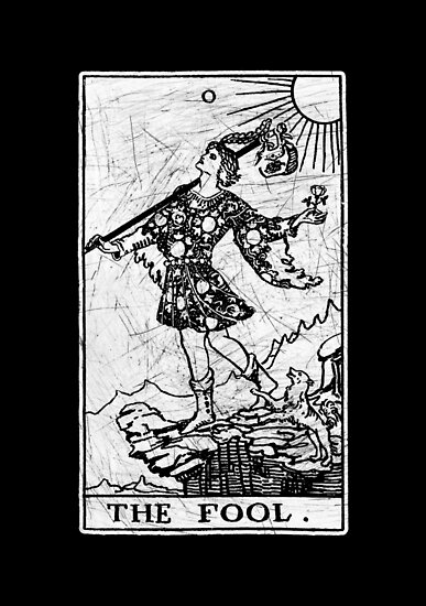 Die Narr Tarot Card - Major Arcana - Wahrsagerei - okkult von createdezign