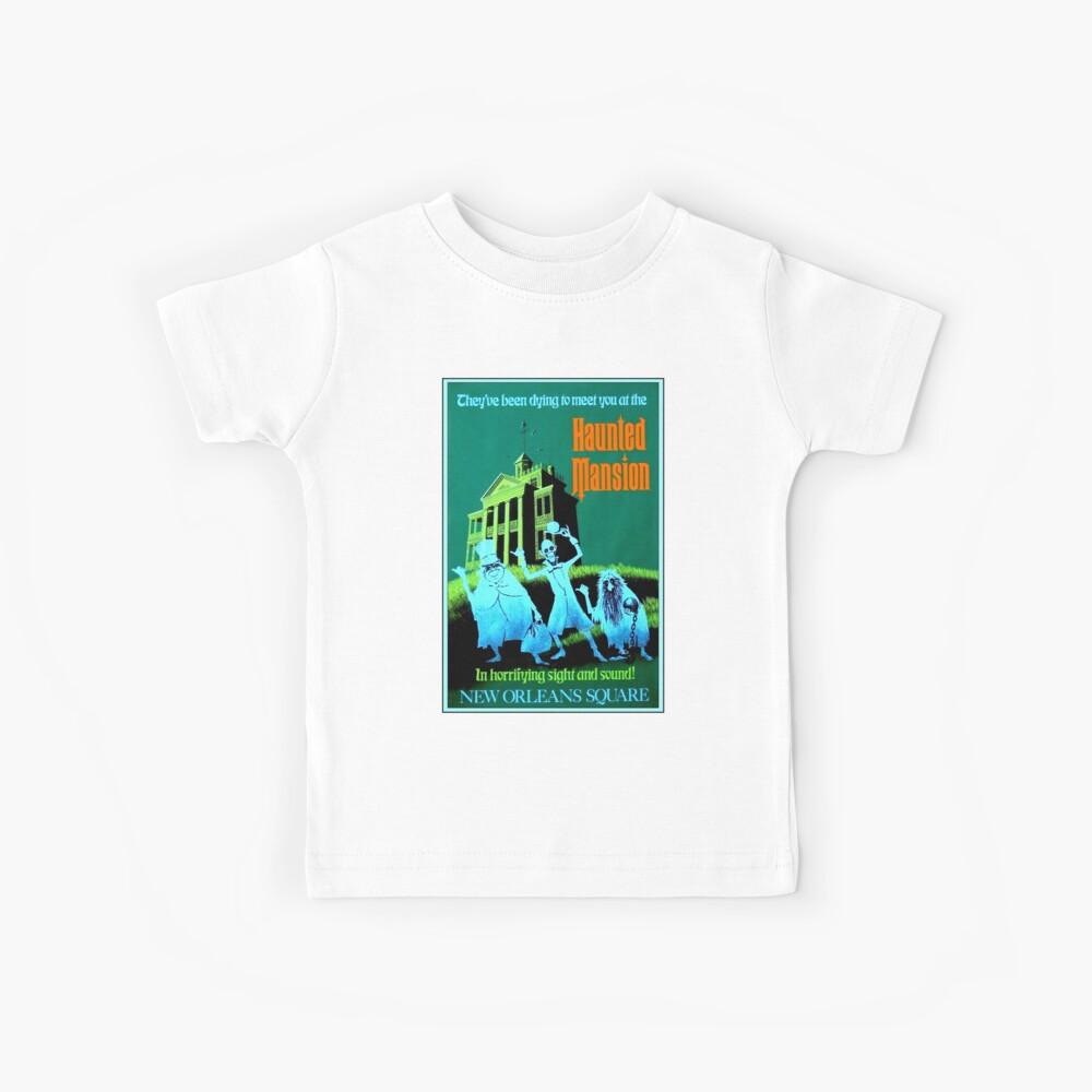 NEW ORLEANS: Vintage Haunted Mansion Werbung Drucken Kinder T-Shirt