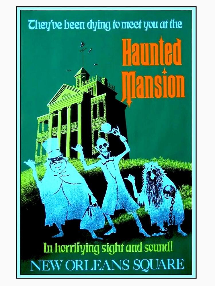 NEW ORLEANS: Vintage Haunted Mansion Werbung Drucken von posterbobs