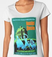 NEW ORLEANS : Vintage Haunted Mansion Advertising Print Women's Premium T-Shirt