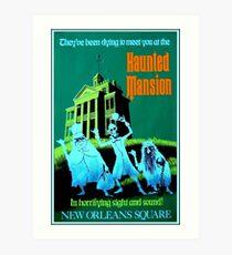 NEW ORLEANS: Vintage Haunted Mansion Werbung Drucken Kunstdruck