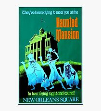 NEW ORLEANS : Vintage Haunted Mansion Advertising Print Photographic Print
