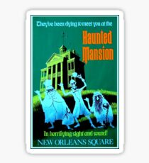 NEW ORLEANS : Vintage Haunted Mansion Advertising Print Sticker