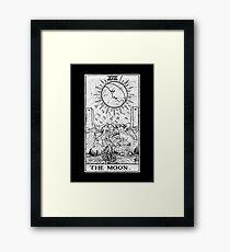 The Moon Tarot Card - Major Arcana - fortune telling - occult Framed Print