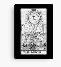 The Moon Tarot Card - Major Arcana - fortune telling - occult Canvas Print