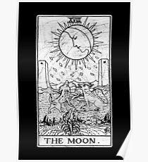 Die Mond Tarot Card - Major Arcana - Wahrsagerei - okkult Poster