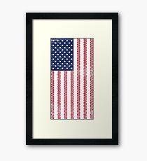 Vintage Flag > US Flag Made of Motorbike Tracks > Biker Framed Print