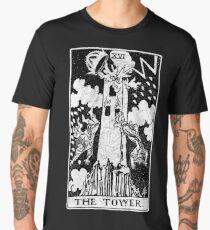 The Tower Tarot Card - Major Arcana - fortune telling - occult Men's Premium T-Shirt