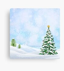 christmas scene, no text Canvas Print