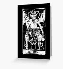 The Devil Tarot Card - Major Arcana - fortune telling - occult Greeting Card