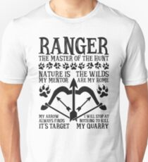 RANGER, The Master of the Hunt - Dungeons & Dragons (Black Text) T-Shirt