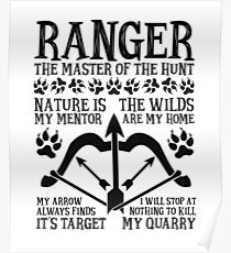 RANGER, The Master of the Hunt - Dungeons & Dragons (Black Text) Poster