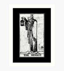 The Hermit Tarot Card - Major Arcana - fortune telling - occult Art Print