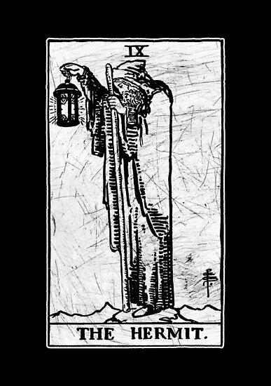 """The Hermit Tarot Card"