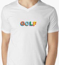 GOLF LOGO COLORED TYLER THE CREATOR Men's V-Neck T-Shirt