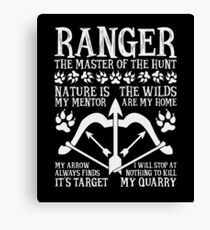 RANGER, The Master of the Hunt - Dungeons & Dragons (White Text) Canvas Print