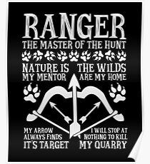 RANGER, The Master of the Hunt - Dungeons & Dragons (White Text) Poster