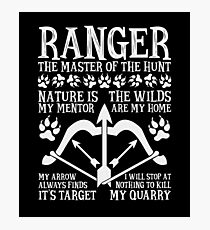 RANGER, The Master of the Hunt - Dungeons & Dragons (White Text) Photographic Print