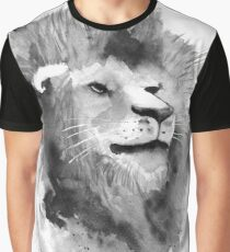 Löwe in Aquarell Graphic T-Shirt