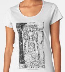 The High Priestess Tarot Card - Major Arcana - fortune telling - occult Women's Premium T-Shirt