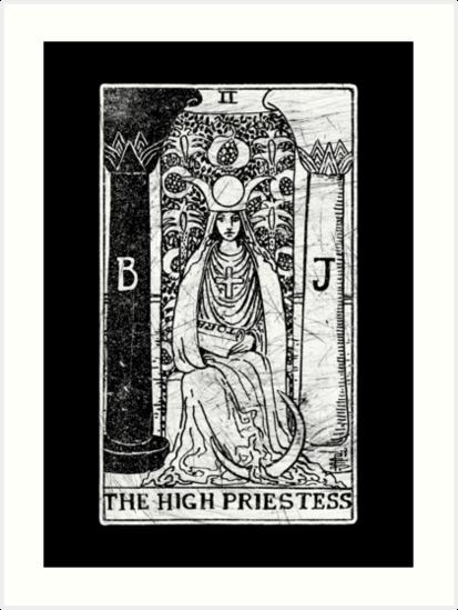 """""""The High Priestess Tarot Card"""