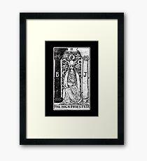 The High Priestess Tarot Card - Major Arcana - fortune telling - occult Framed Print