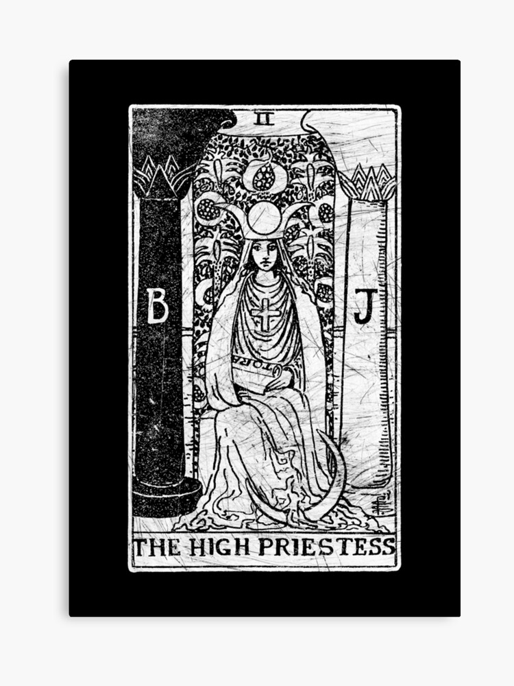 The High Priestess Tarot Card - Major Arcana - fortune telling - occult |  Canvas Print