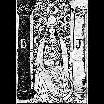 La carta de la Sacerdotisa Alta Sacerdotisa - Arcana mayor - adivinación - oculta de createdezign
