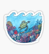 Save the Coral Reefs Sticker