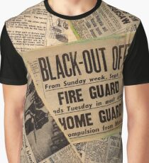 Vintage Newspaper Covers Graphic T-Shirt