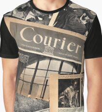 Old Newspaper Covers Graphic T-Shirt