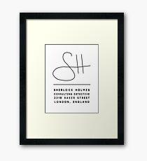 Sherlock Holmes Signature Framed Print