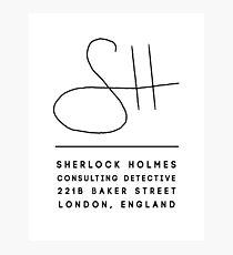 Sherlock Holmes Signature Photographic Print