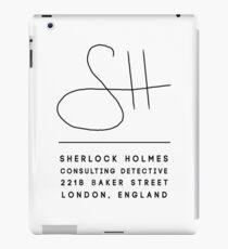 Sherlock Holmes Signature iPad Case/Skin