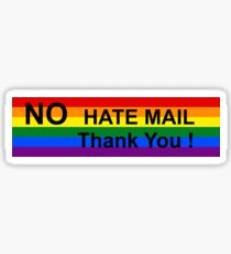 No Hate Mail Sticker