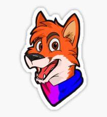 Bi Pride Bandanna Fox Sticker