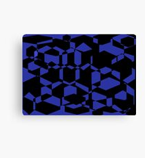 black and blue collage of shapes Canvas Print