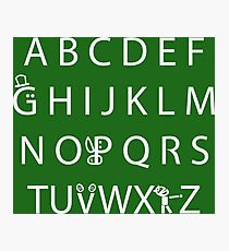 Canadian Alphabet Photographic Print