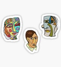 Picasso Paintings Sticker