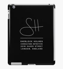 Sherlock Holmes Signature - White iPad Case/Skin