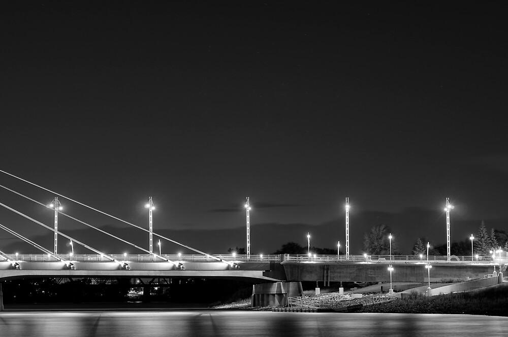 Winnipeg Bridge Night by Geoffrey