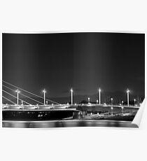 Winnipeg Bridge Night Poster