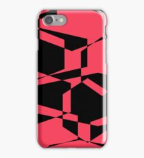 black and hot pink collage iPhone Case/Skin