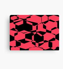 black and hot pink collage Canvas Print