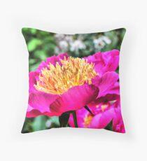 Flower at butchart Garden Throw Pillow