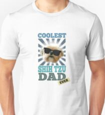 Coolest Shih Tzu Dad Ever Dog Lover T-Shirt