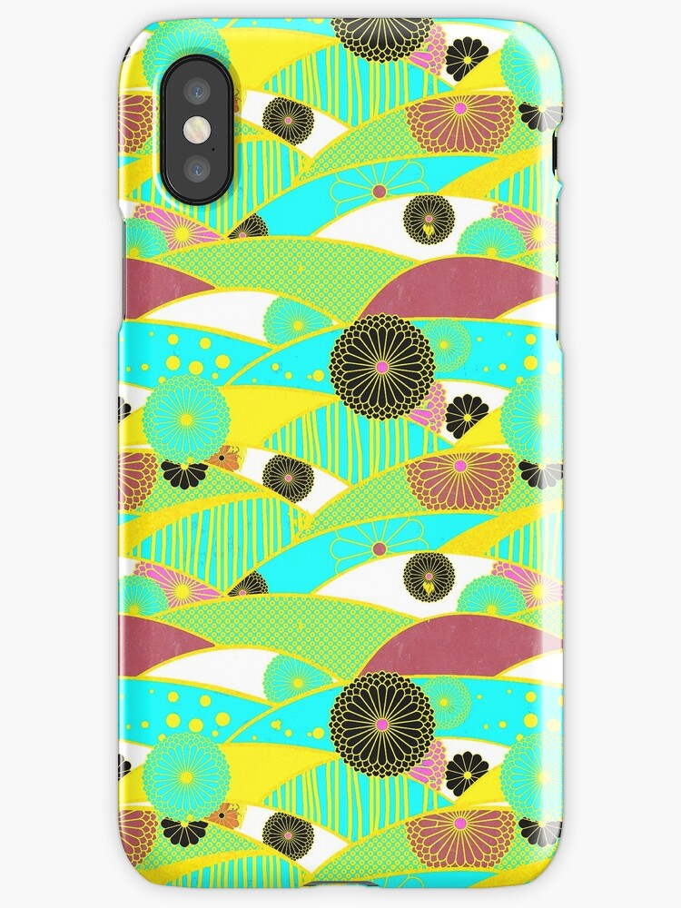 Chiyogami Turquoise & Dusty Rose [iPhone / iPod Case and Print] by Damienne Bingham