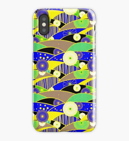 Chiyogami Lapis & Lemon [iPhone / iPod Case and Print] iPhone Case/Skin